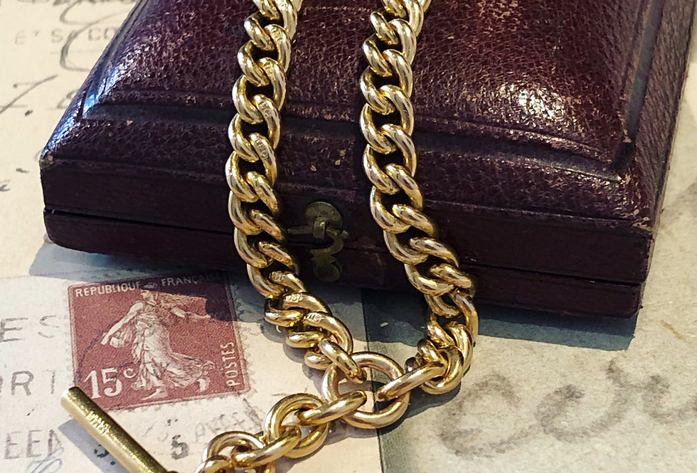 15ct curb link watch chain necklace