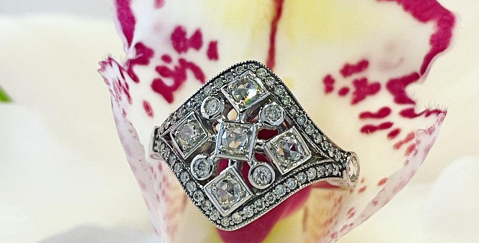 Lovely diamond cluster ring