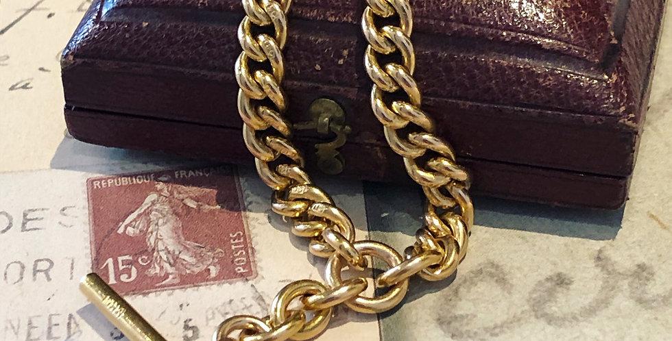 15ct gentlemen's watch chain necklace