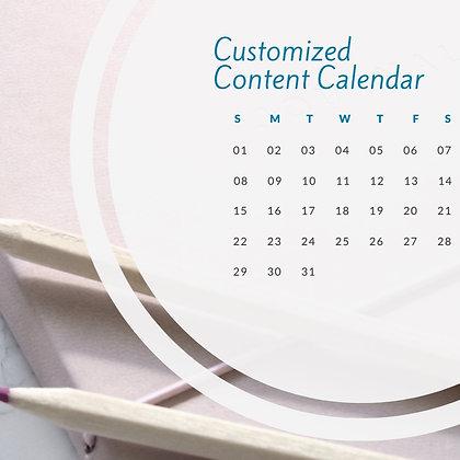 Customized Content Calendar
