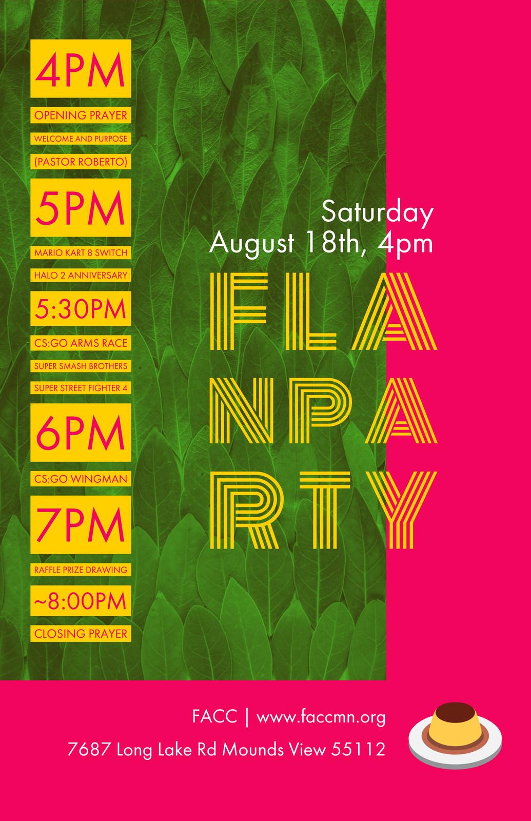 FLAN Party Schedule jpg