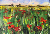 Jill OMeehan Poppies in Wheat Art School