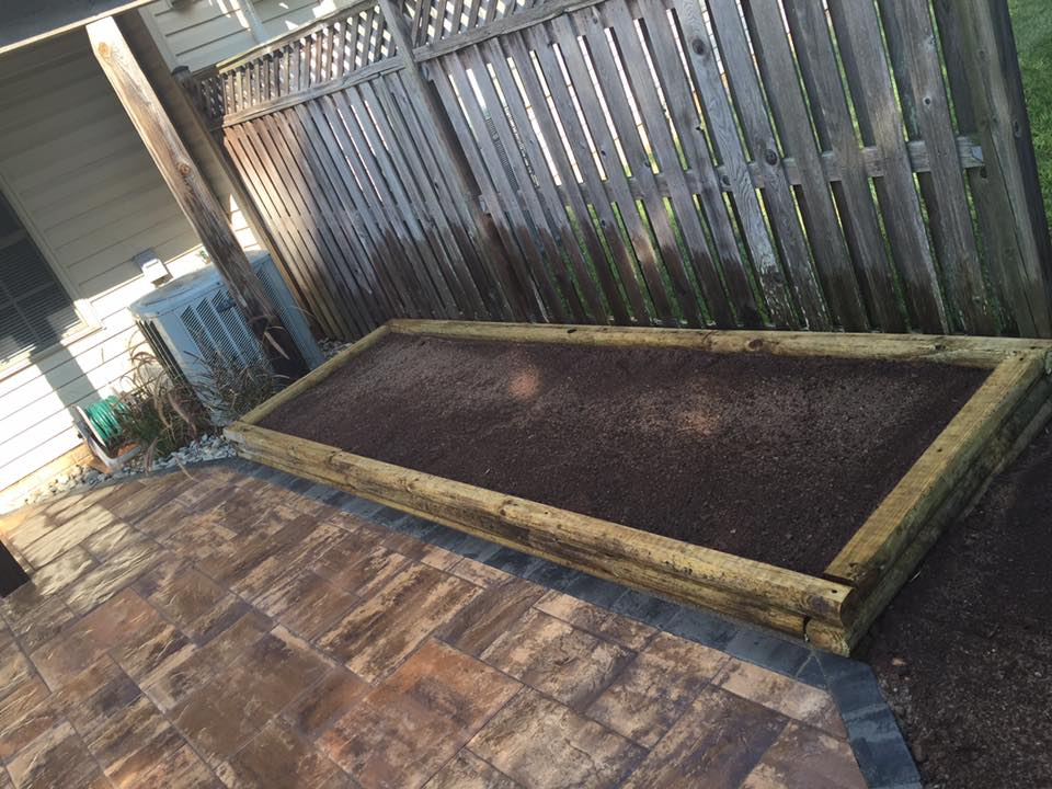 patio complete and new garden box