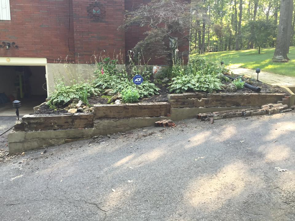 stone retaining wall demo