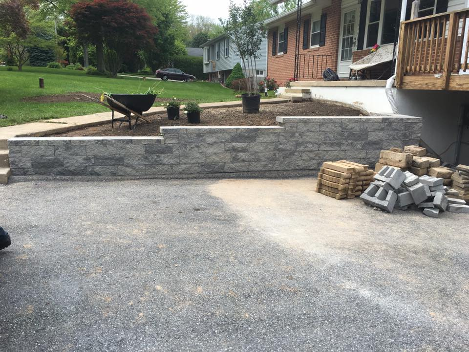 retaining wall complete