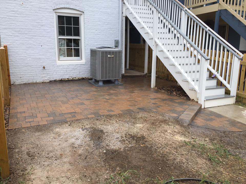 patio in progress