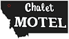 Chalet Motel Logo - Cutout Gray and Whit