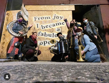 New Heights Brass Band Busk