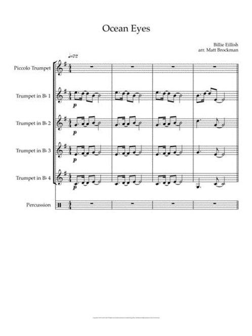 Ocean's Eyes (for 5 Trumpets)
