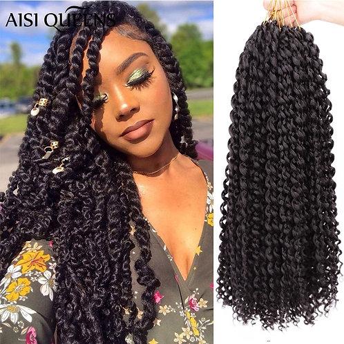 Long Passion Twist Crochet Hair Synthetic  Braiding Crochet Hair Extension