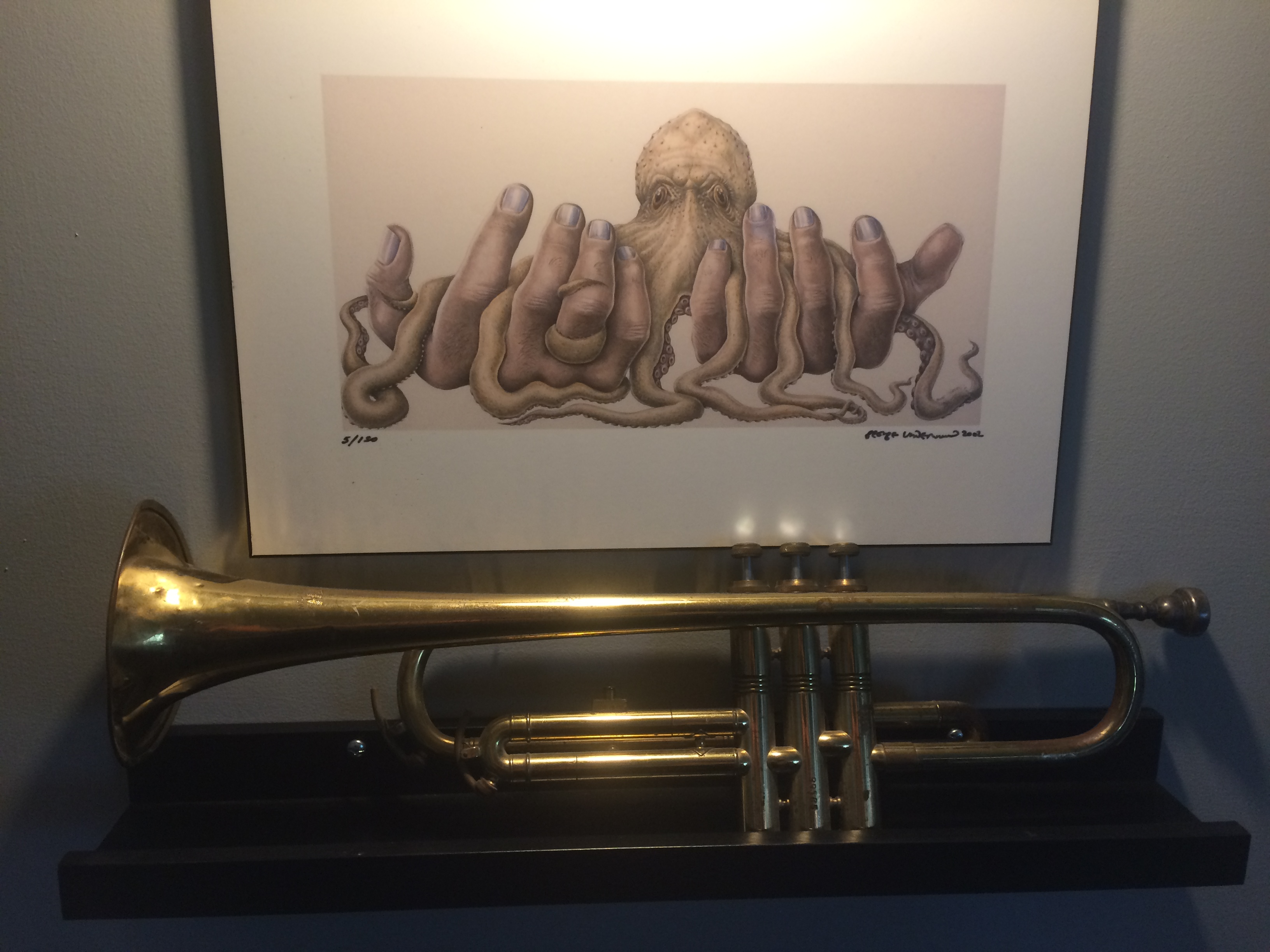 Célèbre trompette de Ray Shulman (Gentle Giant)
