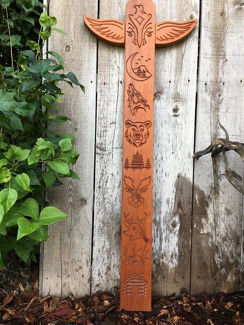 """Garden Totem - """"Woodland"""" - Douglas Fir"""
