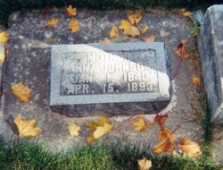 Grandparents of Stella Hill Hunt. This John was the first person buried in the Richmond Cemetery. [J
