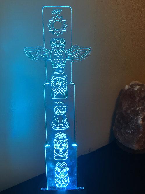 """""""Elements"""" small acrylic totem & LED Light Base"""