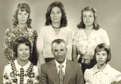 Front: Mary, Keith, Linda. Back: Susan, Dale, Joan