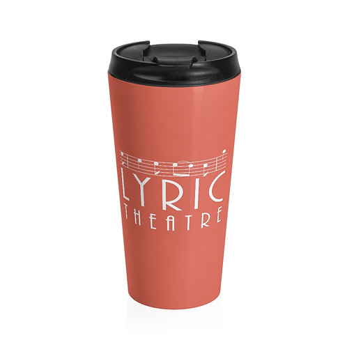 Stainless Steel Travel Mug - Coral