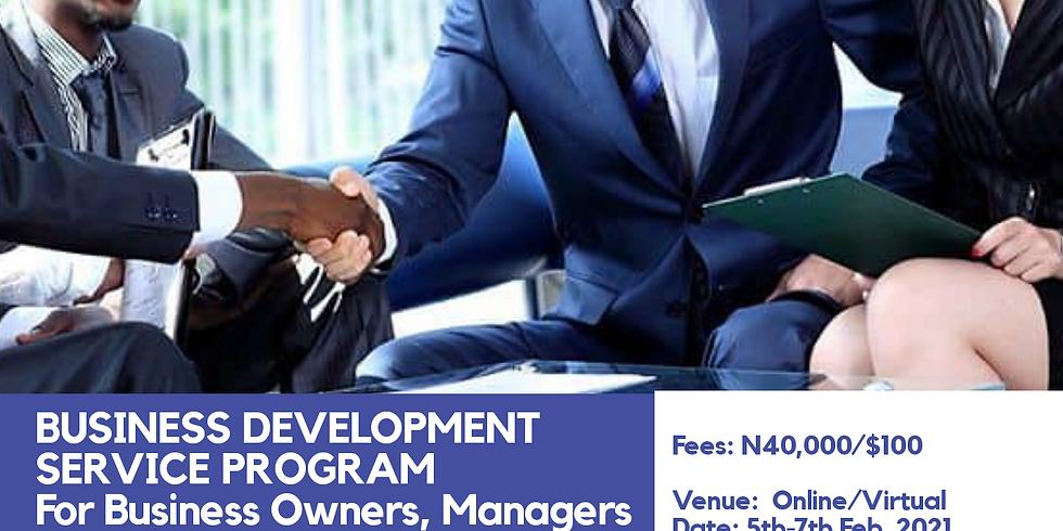 BUSINESS DEVELOPMENT SERVICE PROGRAM