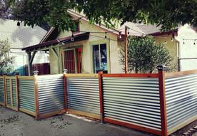 Custom Corrugated Fence