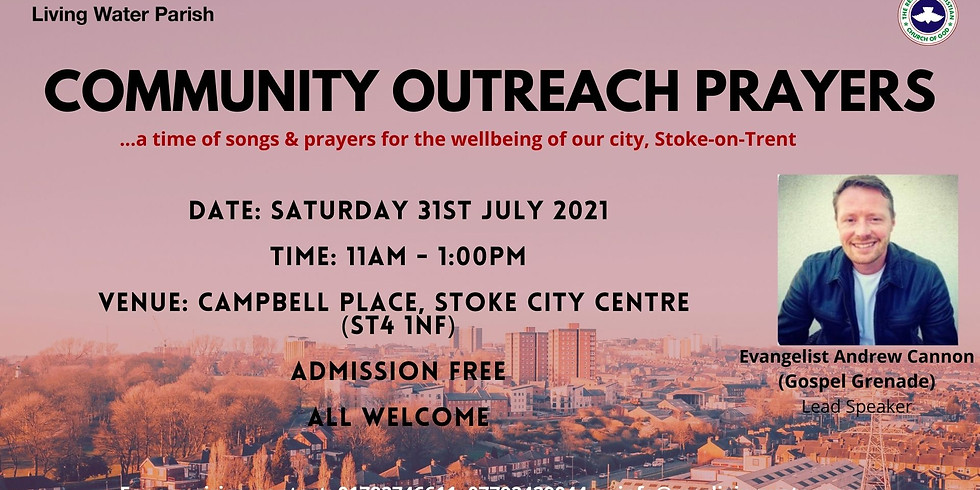 Community Outreach Program with Evangelist Andrew Cannon, in Stoke on Trent