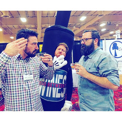 So much fun watching everyone at #toyfestwest try Read Between The Wines! These guys were serious ab