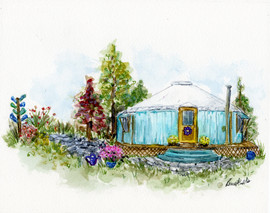 Home Yurt Portrait