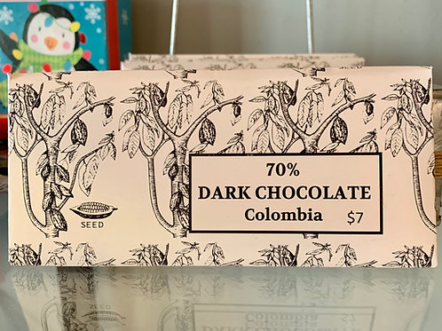 70% Dark Columbian Chocolate, 90g