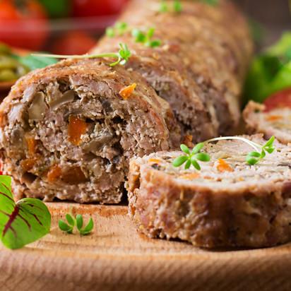 Rocambole de Carne Vegetal Moída
