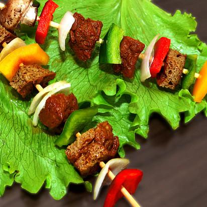 Espetinhos de Churrasco Vegano