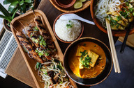 Asian food at Little Apo
