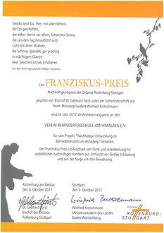 franziskus-preis-urkunde
