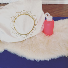 Circle of Gold XXL Yoga Tote Bag @ RA MA, Los Angeles