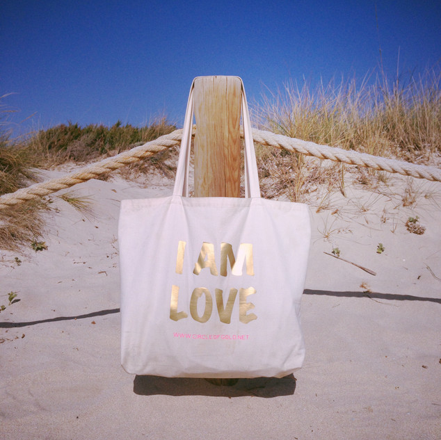 I AM LOVE XXL Yoga Tote Bag - back