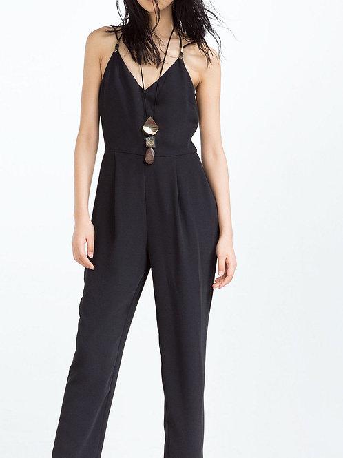 Zara Black Strappy Jumpsuit XS