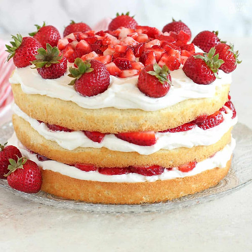 Sylvia's Strawberry Gateau (Year 4)