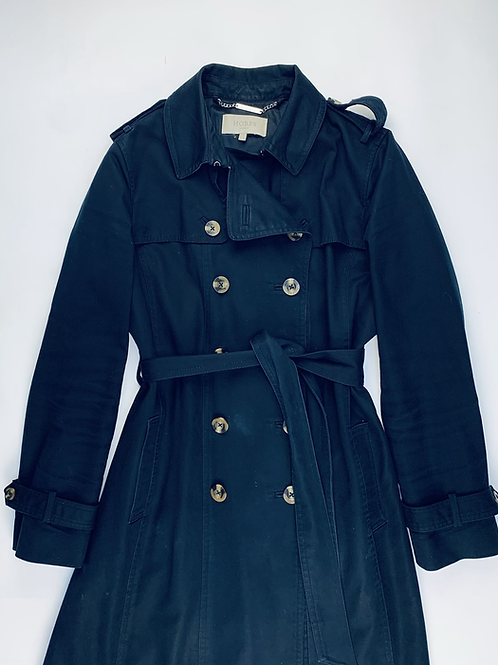 Hobbs Trench Navy Blue Coat UK 14