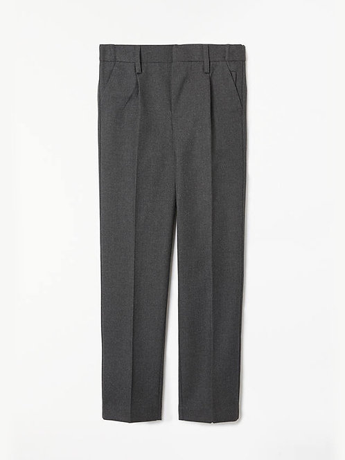 Grey trousers in various sizes