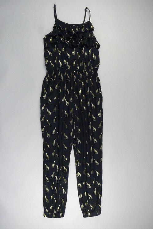 M&S Kids Black Giraffe Print Jumpsuit 10-11yrs