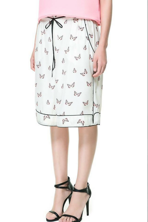 Zara Butterfly Bermuda Shorts S