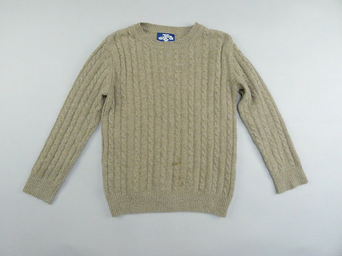 Thomas Brown Wool Cable Knit Sweater  8-9 Yrs
