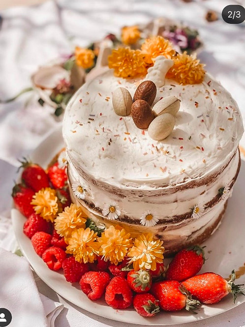 Tara Oriane Monjo's Strawberry Easter cake