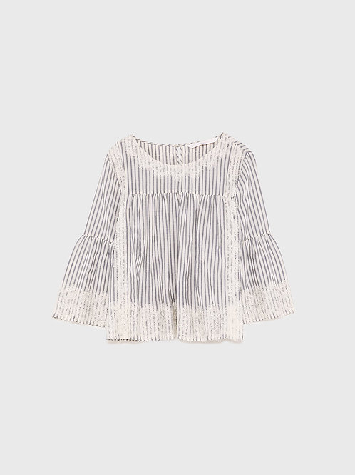 Zara Stripe Lace Top XL