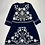 Thumbnail: French Connection Navy Blue Embroidered Dress UK 8