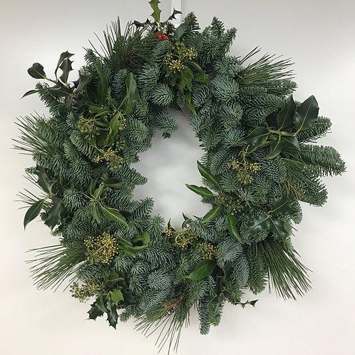 "Luxury Plain Four Foliage Wreath 14"""