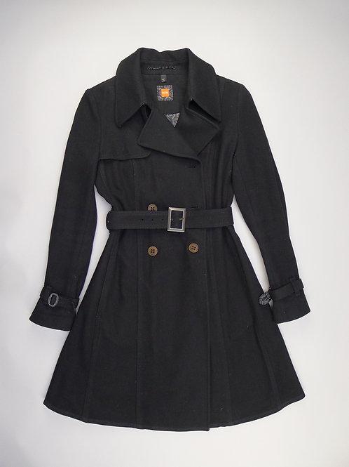 Hugo Boss Black Wool Coat UK 6