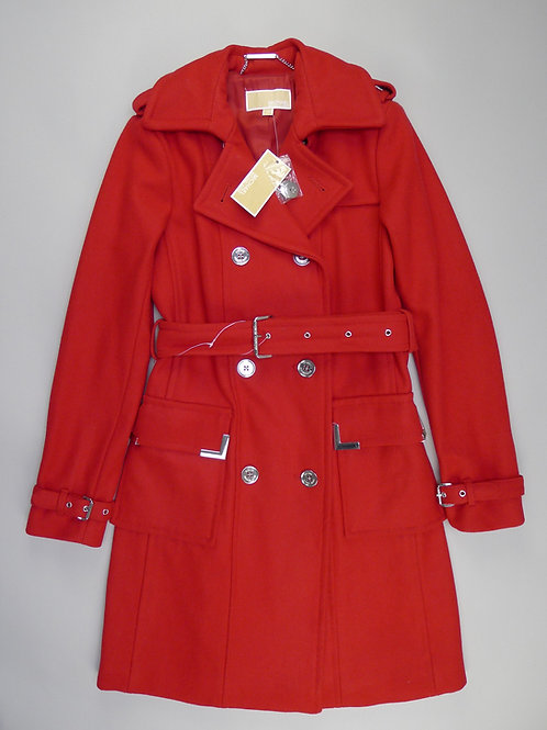 Michael Michael Kors Wool Red Trench Coat XS