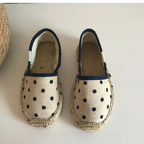 Marie-Chantal natural polka dot espadrilles (Size 13.5)