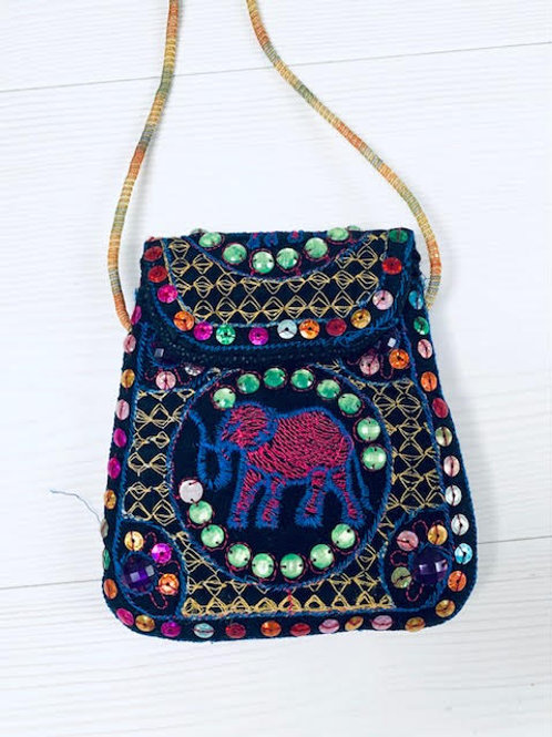 Embroidery Elephant Mini Shoulder Bag