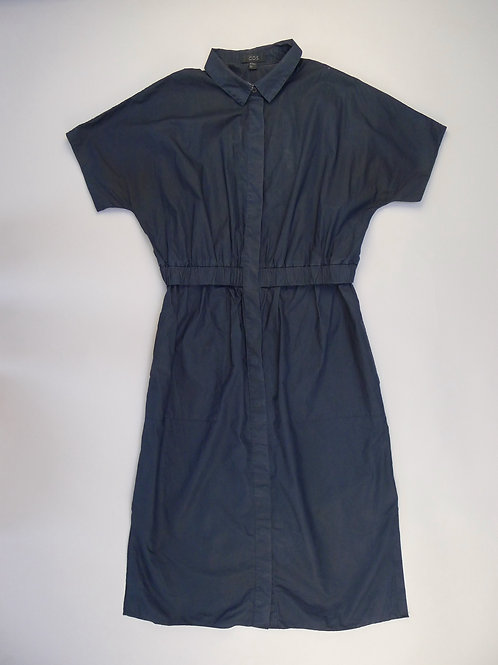 COS Navy Blue Long Cotton Dress M/36