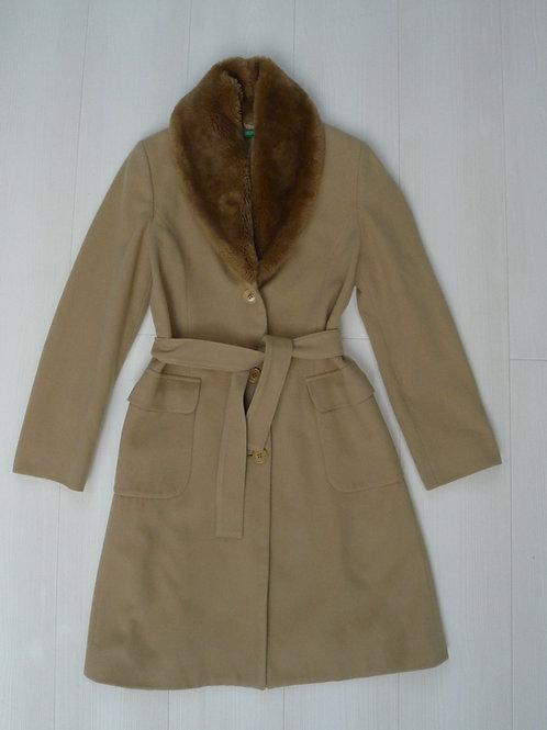 Benetton Wool Long Coat Size 38 (Small)