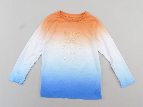 M&S Busy Saving The World Long Sleeve T-Shirt 2-3 YRS